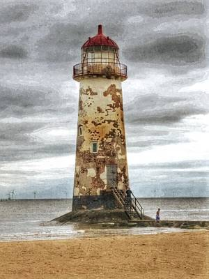 Photograph - The Lighthouse  by Isabella F Abbie Shores