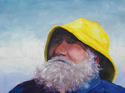 Old Man And The Sea Painting - The Lighthouse Keeper by Gale Cochran-Smith