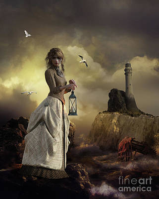 Keeper Digital Art - The Lighthouse Keeper's Daughter by Shanina Conway