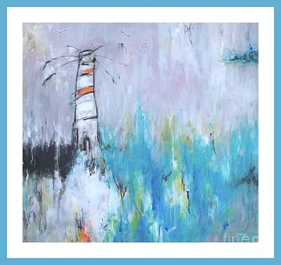 Wall Art - Painting - The Lighthouse by Marcela Levinska