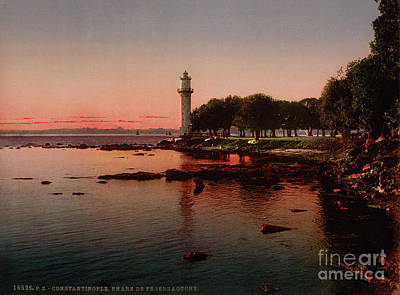 Painting - The Lighthouse Of Fenerbahce Constantinople by Celestial Images