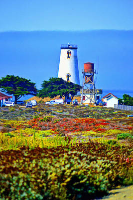 Mixed Media - The Lighthouse Of San Simeon by Glenn McCarthy Art and Photography