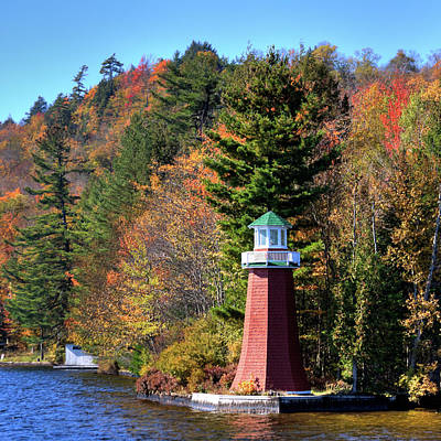 Adirondack Painting - The Lighthouse On 4th Lake by David Patterson