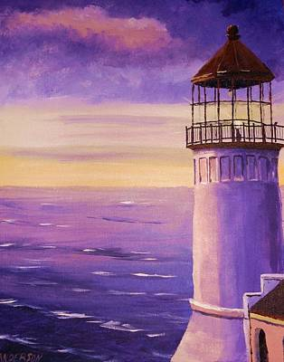 Painting - The Lighthouse by Pamela Anderson