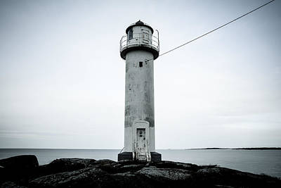 Digital Art - The Lighthouse Subbe Fyr by Tommytechno Sweden