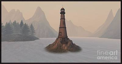 Digital Art - The Lighthouse by Susanne Baumann