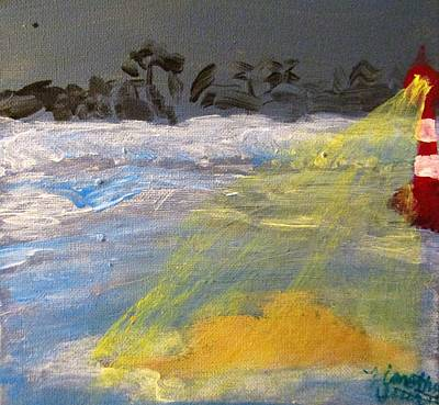 Lighthouse At Night Painting - The Lighthouse by Timothy Stuart