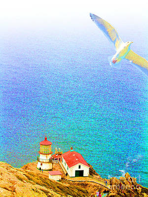 The Lighthouse Art Print by Wingsdomain Art and Photography