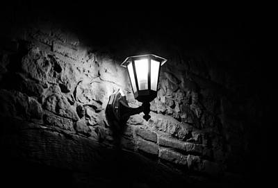 Streetlight Photograph - The Lights Are Down by Andrea Mazzocchetti