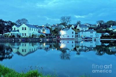 Photograph - The Lights Come On In Mylor Bridge by Terri Waters