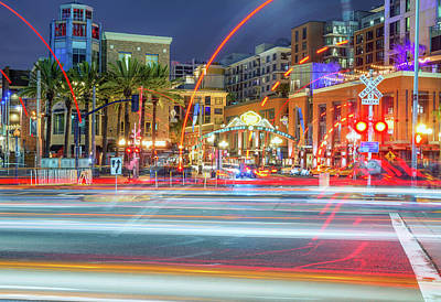 Gaslamp Photograph - The Lights Of Downtown by Joseph S Giacalone