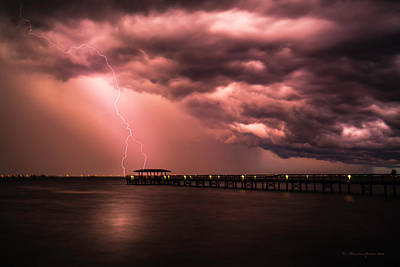 Bolt Photograph - The Lightshow by Marvin Spates