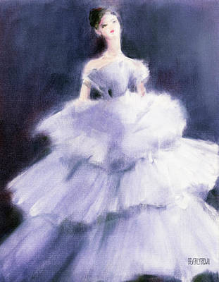 Painting - The Lilac Evening Dress by Beverly Brown