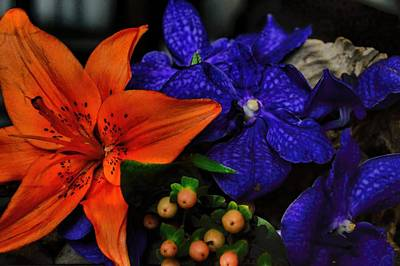 Photograph - The Lily And Orchid by Diana Mary Sharpton