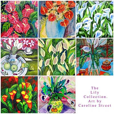 Painting - The Lily Collection by Caroline Street