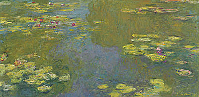 Garden Painting - The Lily Pond by Claude Monet