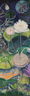 Wall Art - Painting - The Lily Pond by Evelyn Niehaus