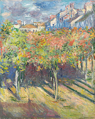 The Lime Trees At Poissy Art Print by Claude Monet