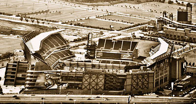 Stadium Digital Art - The Linc - Aerial View by Bill Cannon