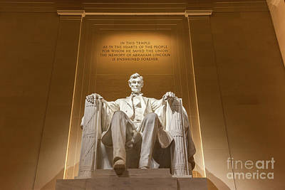 Politicians Royalty-Free and Rights-Managed Images - The Lincoln Memorial 1 by Henk Meijer Photography