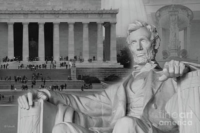Photograph - The Lincoln Memorial by E B Schmidt