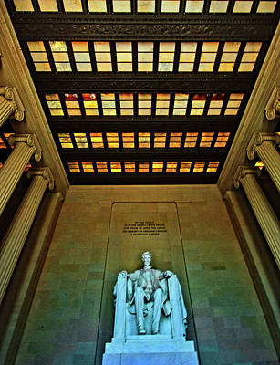 Photograph - The Lincoln Memorial  by John Harding