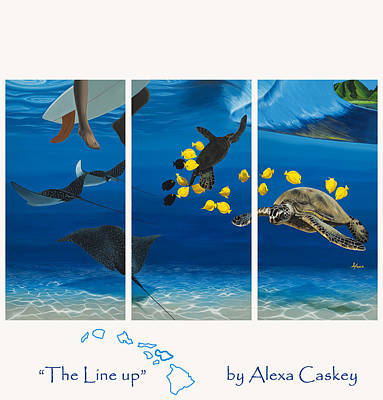 Caskey Wall Art - Painting - The Line Up by Alexa Caskey