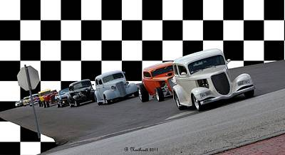 The Line-up Print by Betty Northcutt