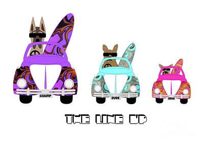 Breed Digital Art - The Line Up by Beverley Brown