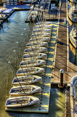 Photograph - The Line Up Charleston Yacht Club Charleston City Marina South Carolina by Reid Callaway