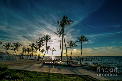 Photograph - The Line Of Palms by Rene Triay Photography