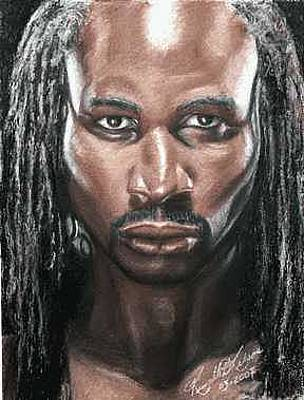 Lennox Painting - The Lion - Lennox Lewis by Kenneth Kelsoe