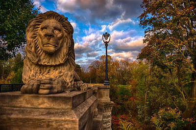 Photograph - The Lion And The Lamp Post by Jonah  Anderson