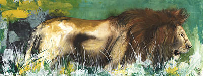 The Lion Art Print by Anthony Burks Sr