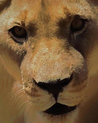 Male Lion Digital Art - The Lion Da by Ernie Echols