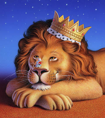 Royalty Painting - The Lion King by Jerry LoFaro