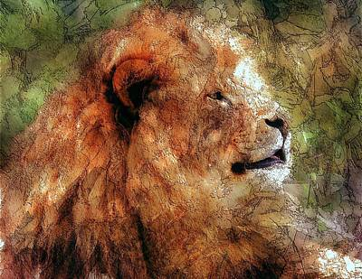 Digital Art - The Lion by Mark Taylor