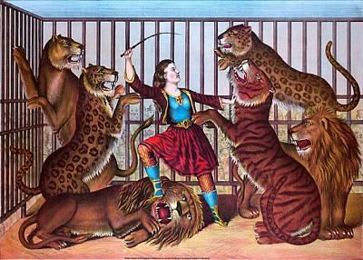 The Lion Queen Print, 1874 Art Print