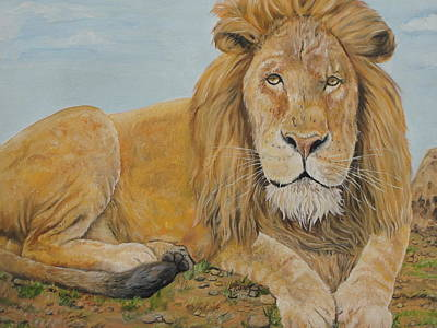 The Lion Art Print by Rajesh Chopra