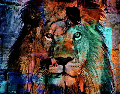 Women Of Present Mixed Media - The Lion Tamer by G Berry