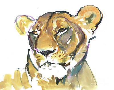 Mixed Media - The Lioness by Mark Adlington