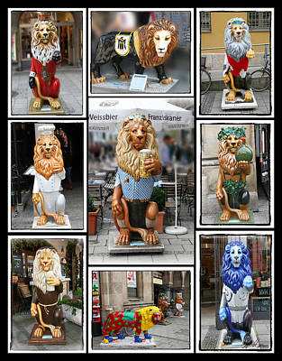 Photograph - The Lions Of Munich by Diana Haronis
