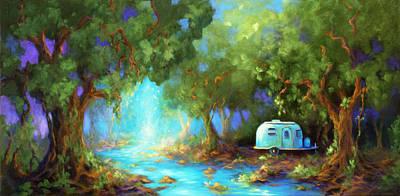 Airstream Painting - The Little Airstream by Jane Kiskaddon