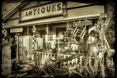 Photograph - The Little Antique Store by Mike Eingle