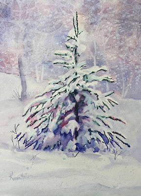 Painting - The Little Backyard Tree by Karen Mattson