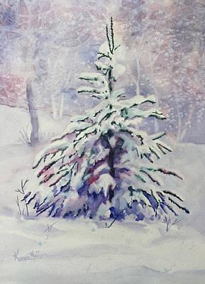 Wall Art - Painting - The Little Backyard Tree by Karen Mattson