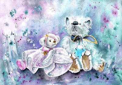 Painting - The Little Ballerina And The White Prince At Newby Hall by Miki De Goodaboom