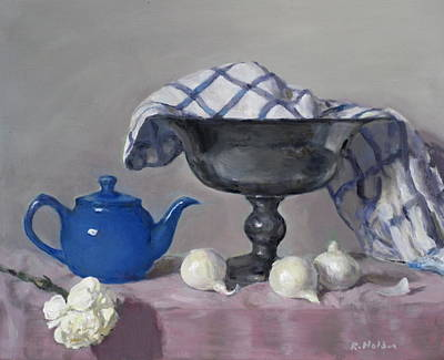 Painting - The Little Blue Teapot by Robert Holden