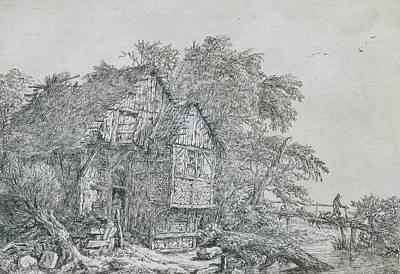 Relief - The Little Bridge by Jacob van Ruisdael