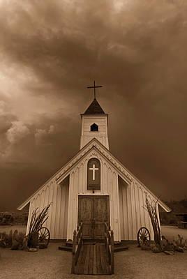 Photograph - The Little Chapel In Sepia  by Saija Lehtonen